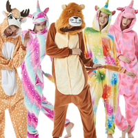 6c47abce5e1ca5 Winter Adult Kigurumi Unicorn Pajamas For Winter Women Men Coulple Pijama  Flannel Animal Onesies Sleepwear Cosplay