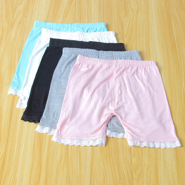 Girls' Casual Cotton Shorts with Elastic Waist