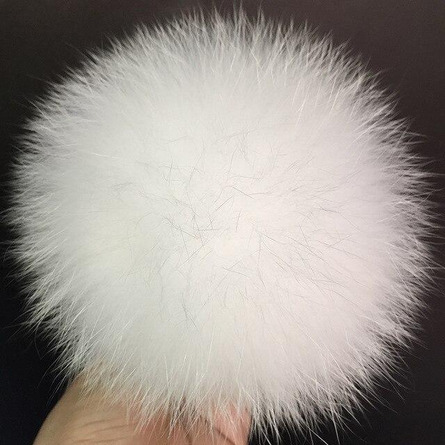 632ea5628 DIY 14 15cm big Fox Fur pompoms Elegant Fur balls for knitted hat ...