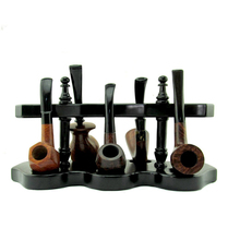 RU- MUXIANG Black Solid Wood Style Vertical Half-round Roman
