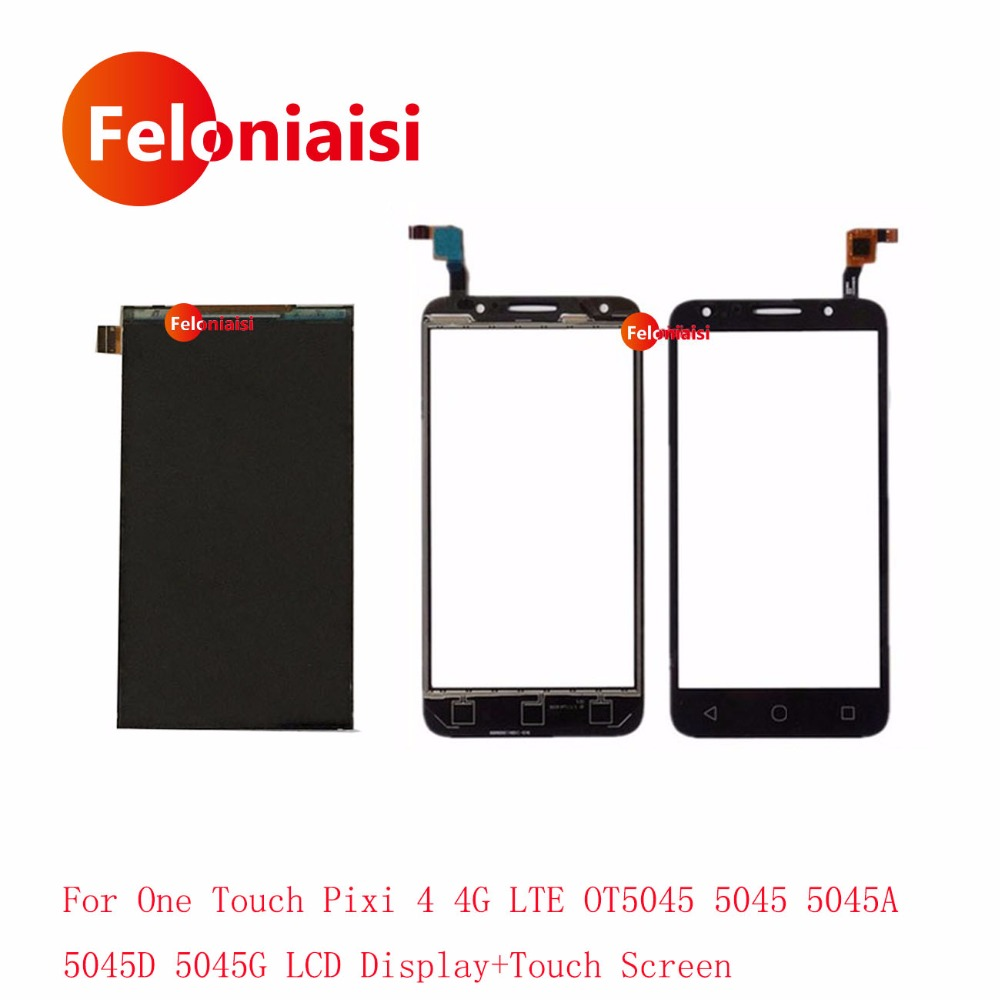 5.0 For Alcatel One Touch Pixi 4 4G LTE OT5045 5045 5045A 5045D 5045G Lcd Display With Touch Screen Digitizer Sensor Lens Panel