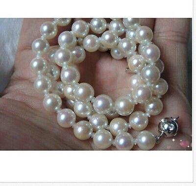 Здесь продается  HOT## Wholesale FREE SHIPPING  classic 9-10MM south sea white pearl necklace 18inch  Ювелирные изделия и часы