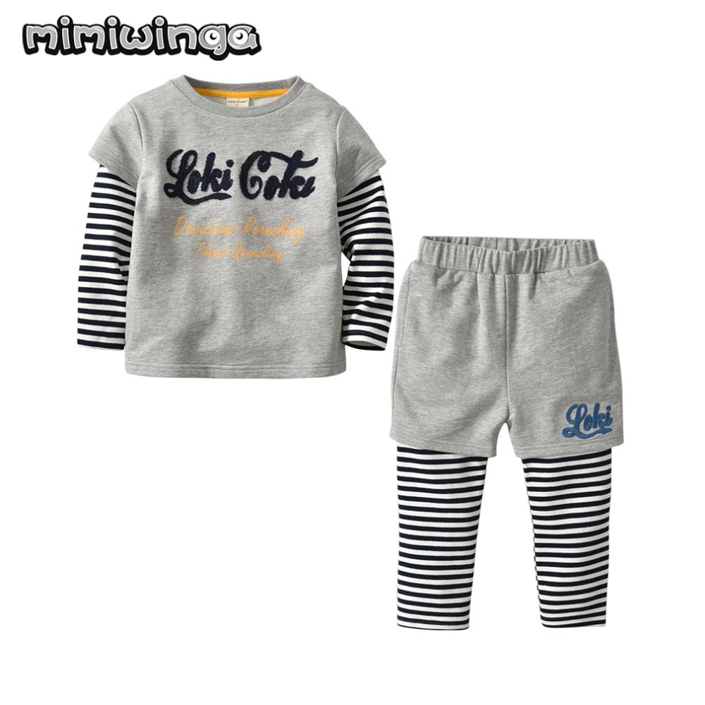 Boys Sweatshirts Sets Long Sleeve lovely stripe T-Shirt + Pants Outfit Kids Clothes Boy Sport Suit Children Baby Clothing AutumnBoys Sweatshirts Sets Long Sleeve lovely stripe T-Shirt + Pants Outfit Kids Clothes Boy Sport Suit Children Baby Clothing Autumn