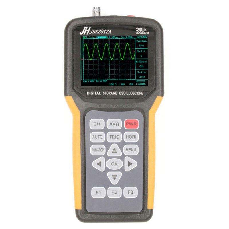 цена на JINHANIC JDS2012A Digital Handheld Oscilloscope 1 Channels 20MHz 200MSa/s Sample Rate Os (EU Plug) Drop shipping