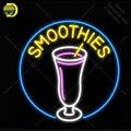 Неоновая вывеска для смузи стеклянный напиток неоновый свет Декор клуб отель стекло ручной работы аркадная неоновая лампа для пивного бара...