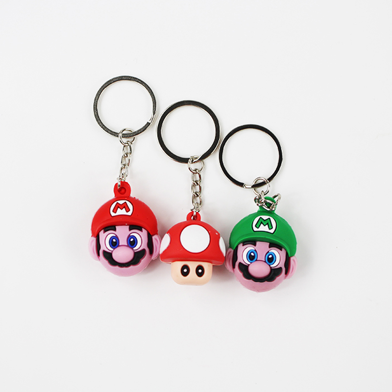 2018 Super Mary Luigi Mario Brothers Mushroom Keychain And Bag Pendant Jewelry Keyring Beautiful Gift