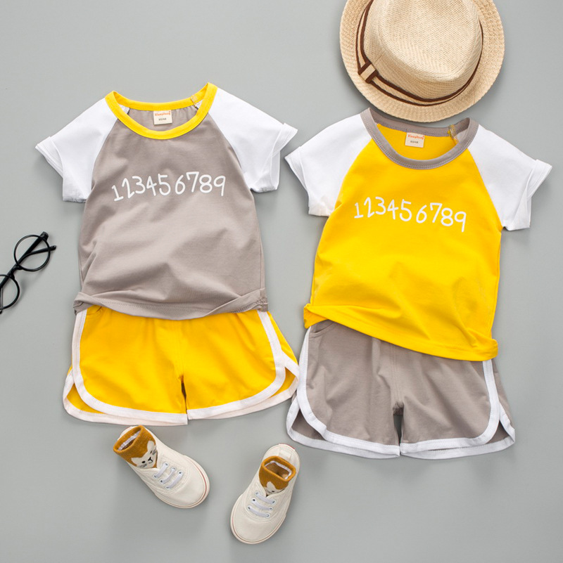 Summer Children's Clothing Two piece Organza Sleeveless Children's Sports Suit Boys and Girls Clothing Kids Clothes Active