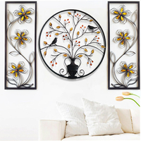 Modern 3d Wall Plaque Iron Bird Tree Home Metal Wall Frame Living Room Picture frame For Home Bar Decoration Big Wall Hangings