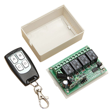 Wholesale5pcs*DC 12V 4 Channel RF 200M Wireless Remote Control Switch Transmitter + Receiver