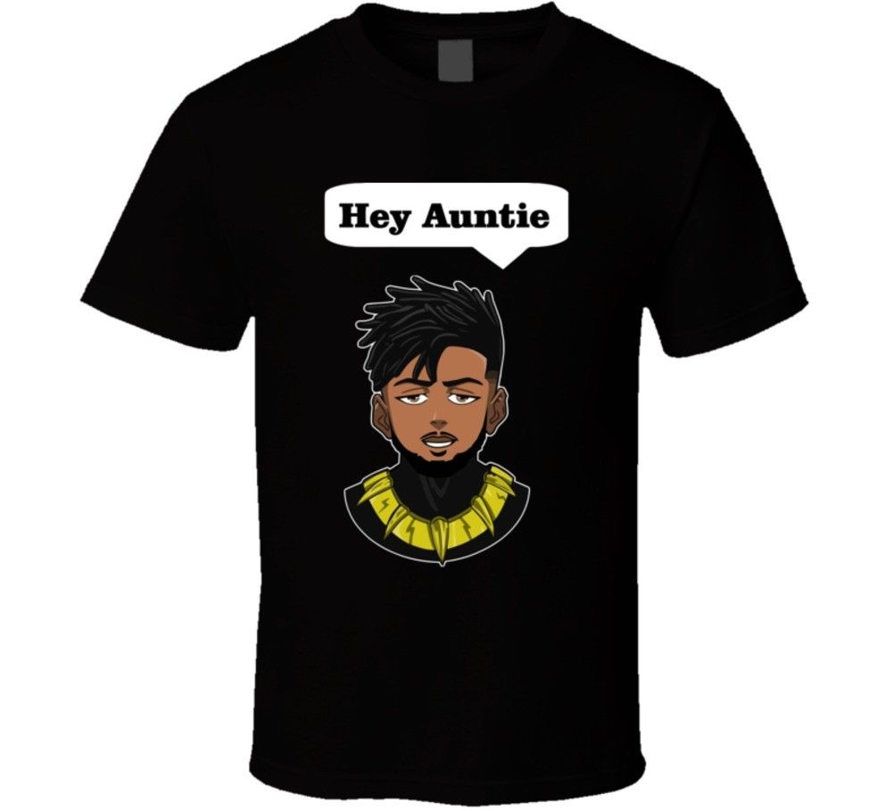 Killmonger Hey Auntie Black Panther Movie T Shirt