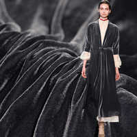 Pearlsilk 39 momme grijs kleur Fluwelen Stof moerbei zijde katoen materialen Herfst jurk DIY kleding stoffen Freeshipping