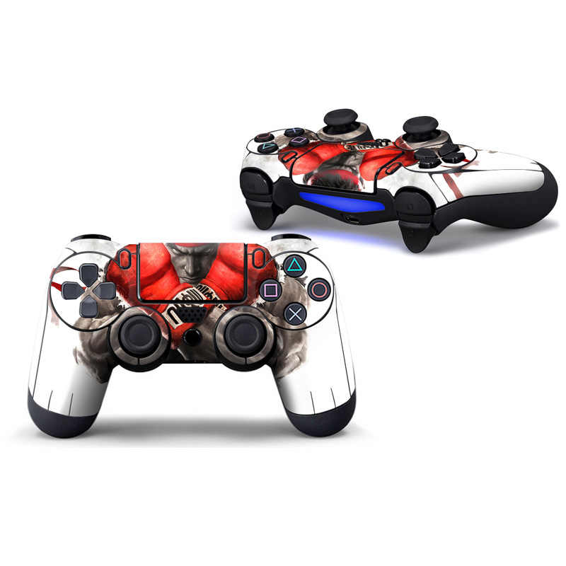 free drop shipping 2pcs Best price Sticker Decal Skin For Playstation 4 PS4 Controller #TN-P4C-0594