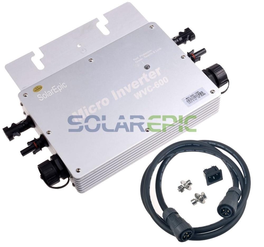 MPPT 600W Waterproof Grid Tie Inverter DC22-50V to AC110V/220V Pure Sine Wave Inverter For 24V/36V Solar Panel Solar Inverter CEMPPT 600W Waterproof Grid Tie Inverter DC22-50V to AC110V/220V Pure Sine Wave Inverter For 24V/36V Solar Panel Solar Inverter CE