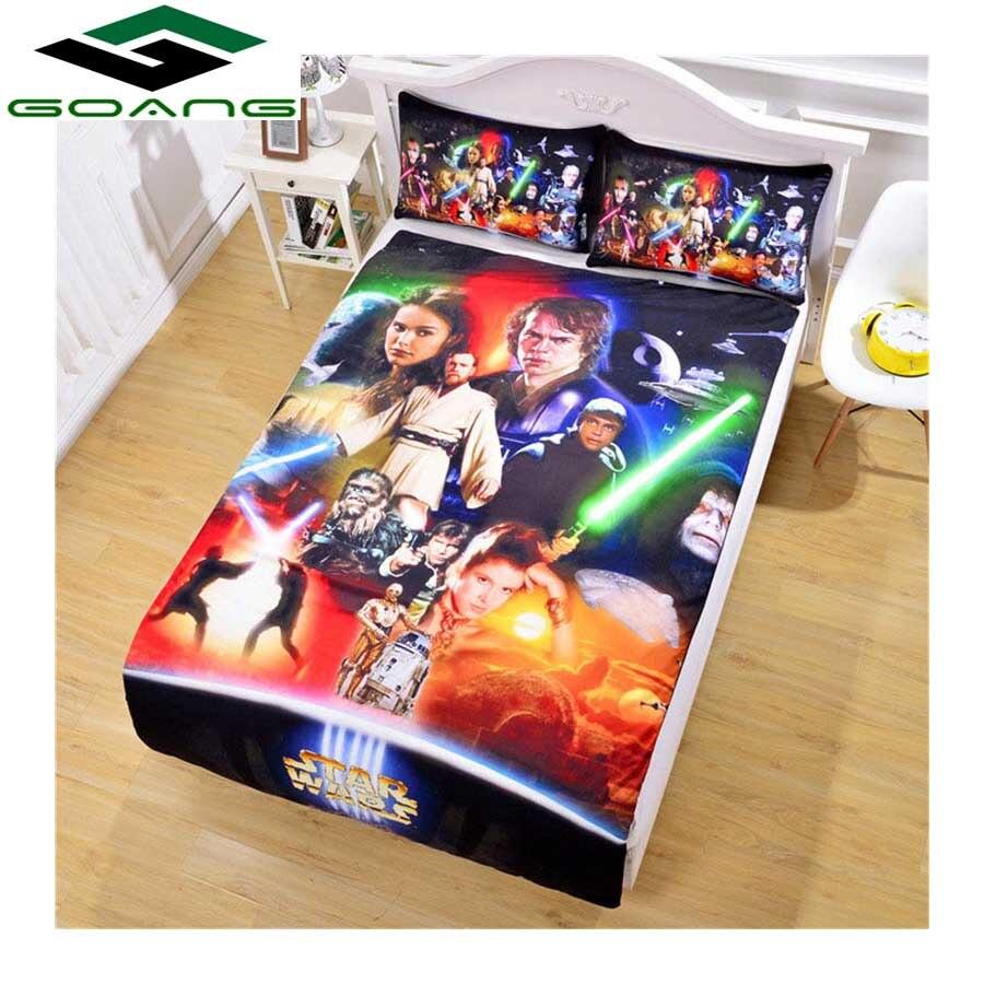 GOANG bedding sets bed sheet duvet cover pillow case 3d digital printing Cartoon Star Wars 3pcs california king