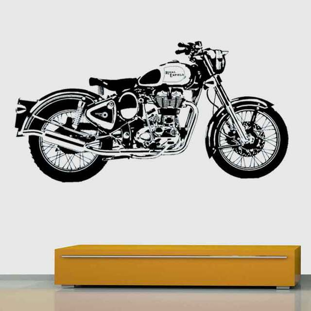 Motor wall sticker motorcycle bike vinyl decal chopper poster room decor art mural