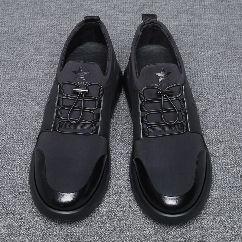 Black New Casual Breathable Men 39 s Height Increasing Elevator Sport Shoes Taller Height 2 76 inches Running Sneakers Good product in Men 39 s Casual Shoes from Shoes