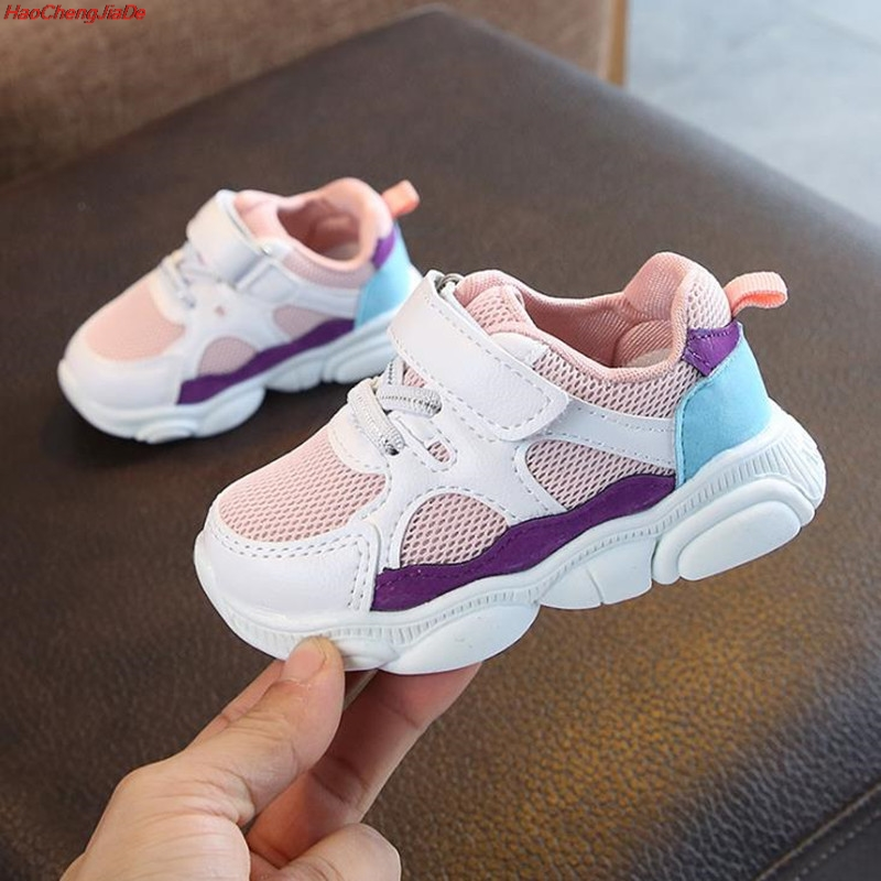 HaoChengJiaDe Children Sports Shoes Boys Girls Spring Damping Casual Shoes Toddler Slip Patchwork Breathable Sneakers Kids Shoes
