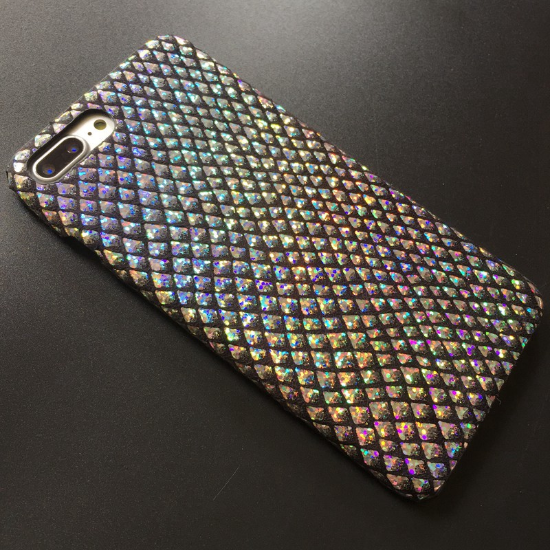 Kerzzil Luxury Bling Shining Fish Scales Case For iphone 6 7 Laser Colorful Hard Case For iPhone 6S 8 Plus Phone Cover Back Capa