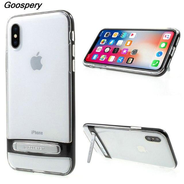 huge discount 1bda7 73d1e US $9.99 |For iPhone X Case Original MERCURY GOOSPERY PC TPU Hybrid  Kickstand Cell Phone Cover Case for iPhone X 5.8 inch Cover Funda-in Fitted  Cases ...