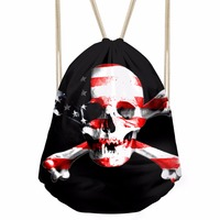 FORUDESIGNS Skull Punk 3D Sports Gym Bags Sport Backpack Men Women Running Cycling Fitness Drawstring Bags