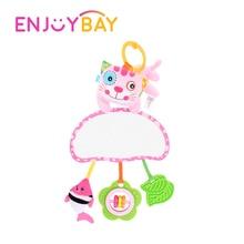 Enjoybay Babyrassel Spielzeug Soft Infant Hand Bell Kinderwagen Hanging Intelligenz Entwicklung Spielzeug mit Ha-ha Spiegel für Neugeborene