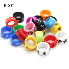E-XY 500pcs/lot E cigarette accessories silicone rubber band vape ring decorative and protection vape mod Non Slip rubber band