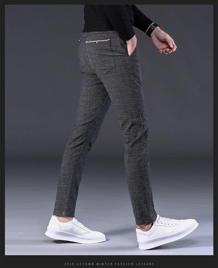 casuais calças de negócios clássicos meados de