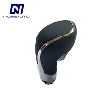 NIUBEAUTO Black PU Leather Automatic Gear Shift Shifter Lever Stick Knob For Opel Vauxhall Buick Regal 20986270 cheap