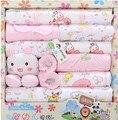 Одежда для Новорожденных детские Наборы 18 шт. Baby Boy Одежда Младенцы Костюм Новорожденных Девочек Мальчиков Одежда