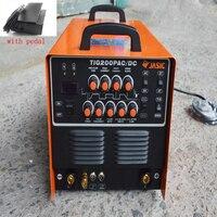 Inverter AC/DC Pulse TIG Welder TIG/MMA Square Wave Pulse Inverter Welder 220V/110V With Foot Control Pedal TIG200P