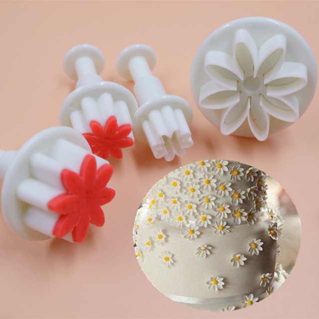 4Pcs Cake Decorating Tools Fondant Plunger Cutter Small ...