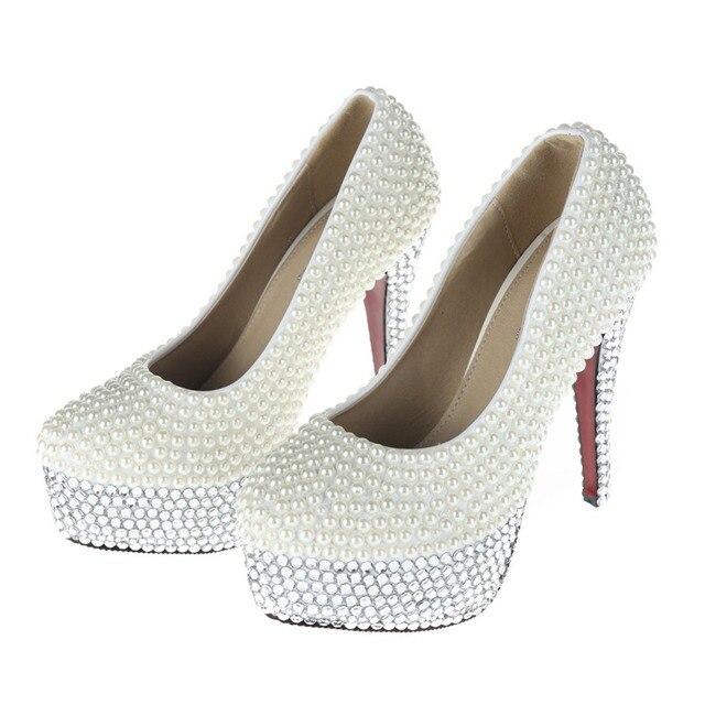 Women s Cute Short White Sparkly Rhinestone High Heels Stilettos for  Wedding ddb56a2c8905
