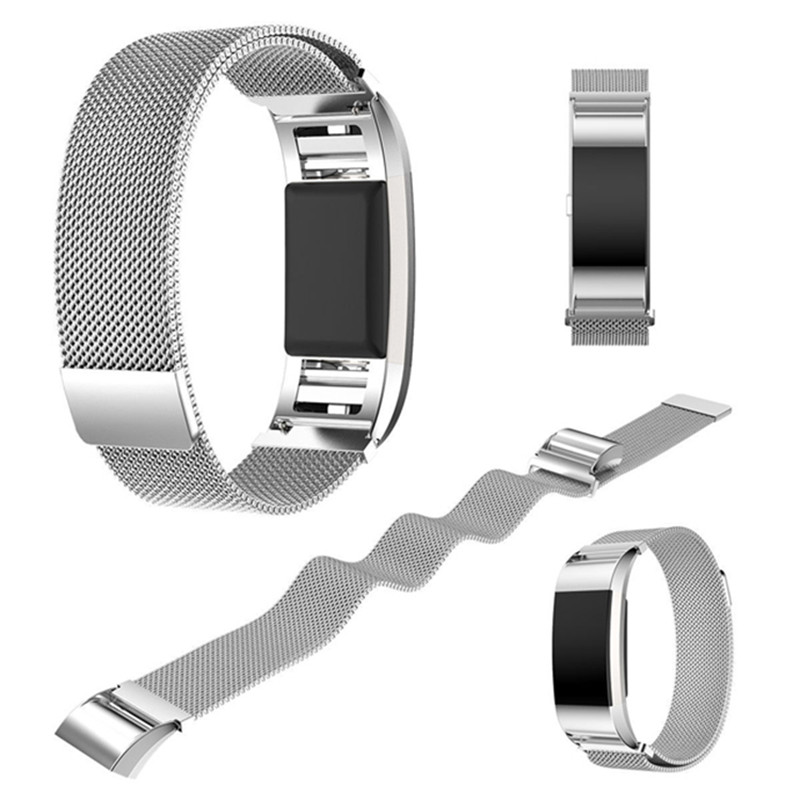Milanese Loop Watch Bandfor Fitbit Charge 2 Sport Magnetic Buckle Mesh Stainless Steel Belt Bracelet Strap Wristband for Charge2