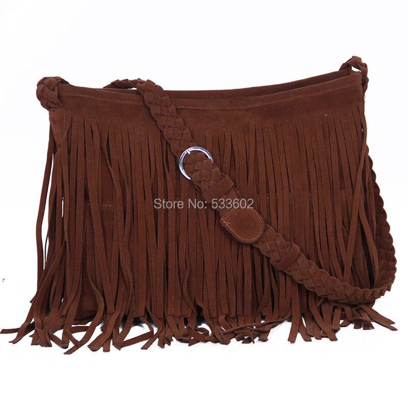 Bolsa Feminina Hot Womens Messenger Fringe Bag Vintage Leather Handbags Designer Tassel Shoulder Hobos Franja In Top Handle Bags From