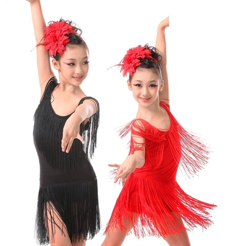 ballroom dancing competition tango skirts and dresses latin kids dance salsa children for girls fringe cha cha dance dress girl