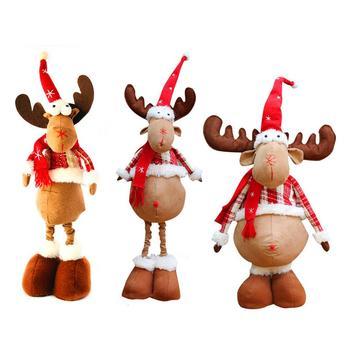 Mas Nuevo Navidad Alces Pano De Franela Ciervos Muneca Navidad - Ciervo-navidad