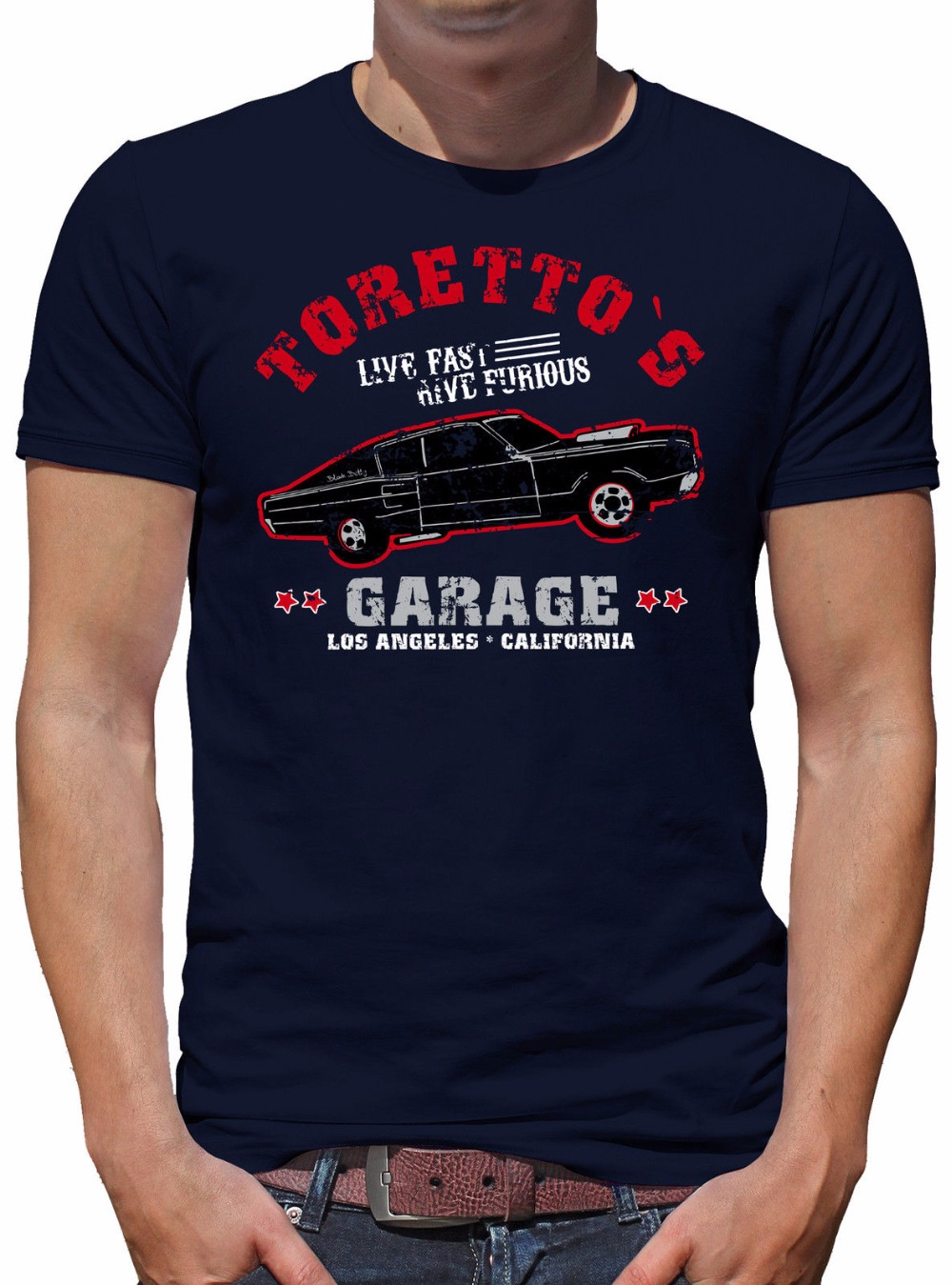 Men 2019 New Short Sleeve T-Shirt Short Sleeve TLM Toretto Garage Herren design your own T shirt Cotton Men T-Shirts Classical