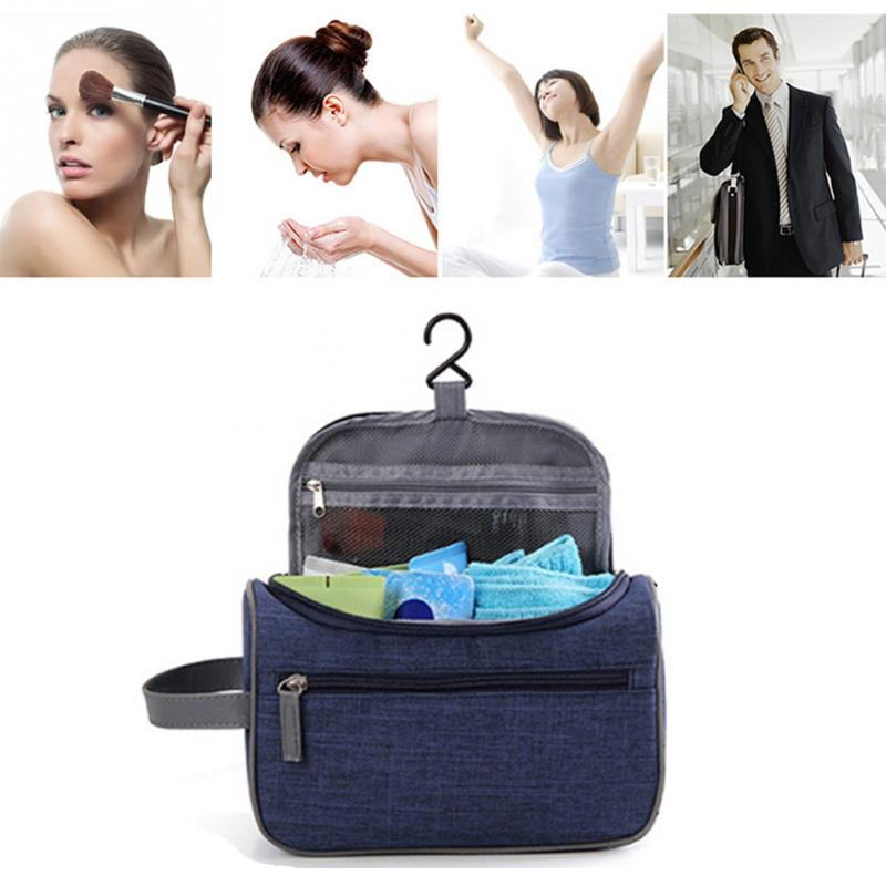 Oxford Cloth Hanging Travel Bag Cosmetics Wash Toiletry Storage Pouch Waterproof Organizer Makeup Case Handbag for Vacation