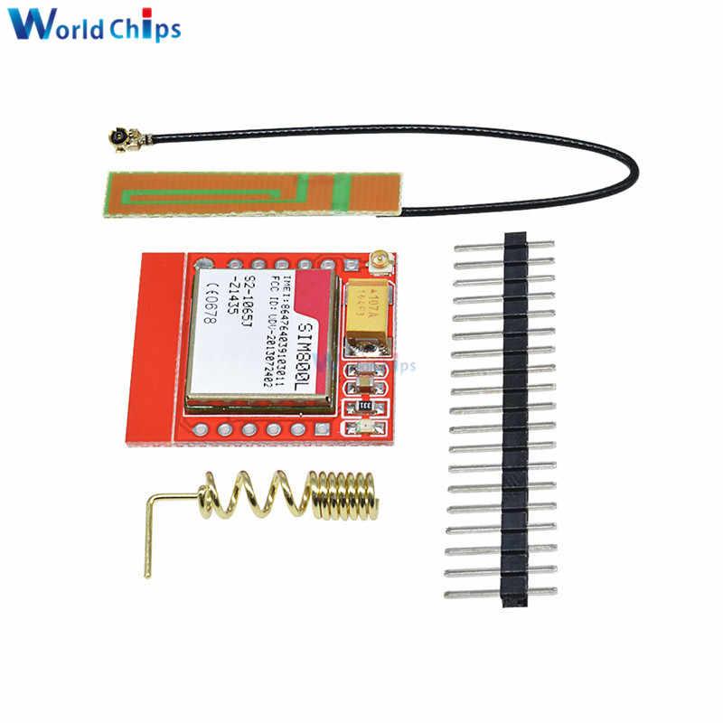 Diymore Più Piccolo SIM800L GPRS GPS GSM Modulo Bordo di Centro di Carta di MicroSIM Quad-band Porta Seriale TTL 3.7 V- 4.2V Con L'antenna