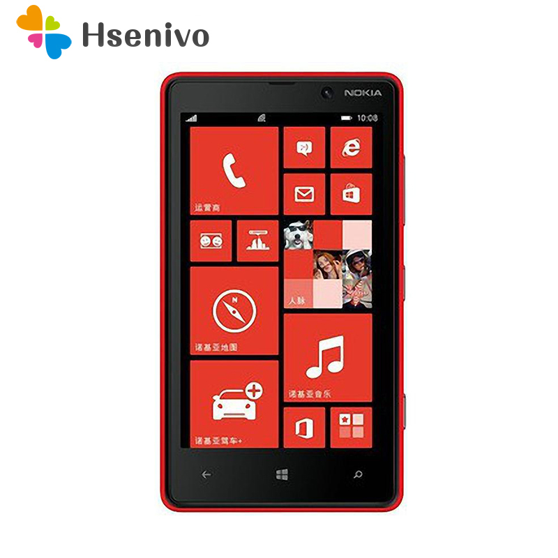 Original Nokia Lumia 820 Windows Phone 8 ROM 8GB Camera 8.0MP 4.3 screen Nokia 820 Mobile Phone Freeshipping one year warranty image