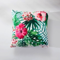3d Flowers Square Cushion 100 Polyester 45x45cm Size Rain Forest Seat Cushion Back Cushion For Home