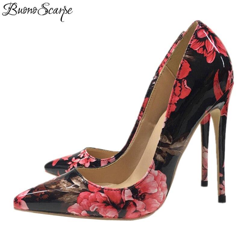 Les Bout 12 Heels À Verni 8cm Chaussures Sexy Scarpe Pour Lady Heels 12cm En Pointu Stiletto 10cm Femmes Talon Buono Hauts Cuir Cm Heels Simples Fleurs Souliers De Talons Filles nwBOvqqTpx