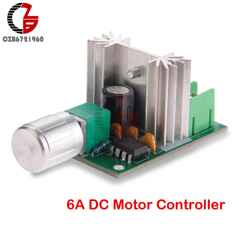 High Power 6A 6V-12V PWM No-Polarity DC Motor Speed Regulator Controller Board Speed Motor Control Switch Board round up starter english grammar practice teacher s guide