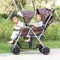 Легкий Двухместный Детские Коляски, Роскошные Автокресла Коляски, Коляски и Коляски Двухместные Коляски, Новорожденных Детские Коляски близнецы Дешевые