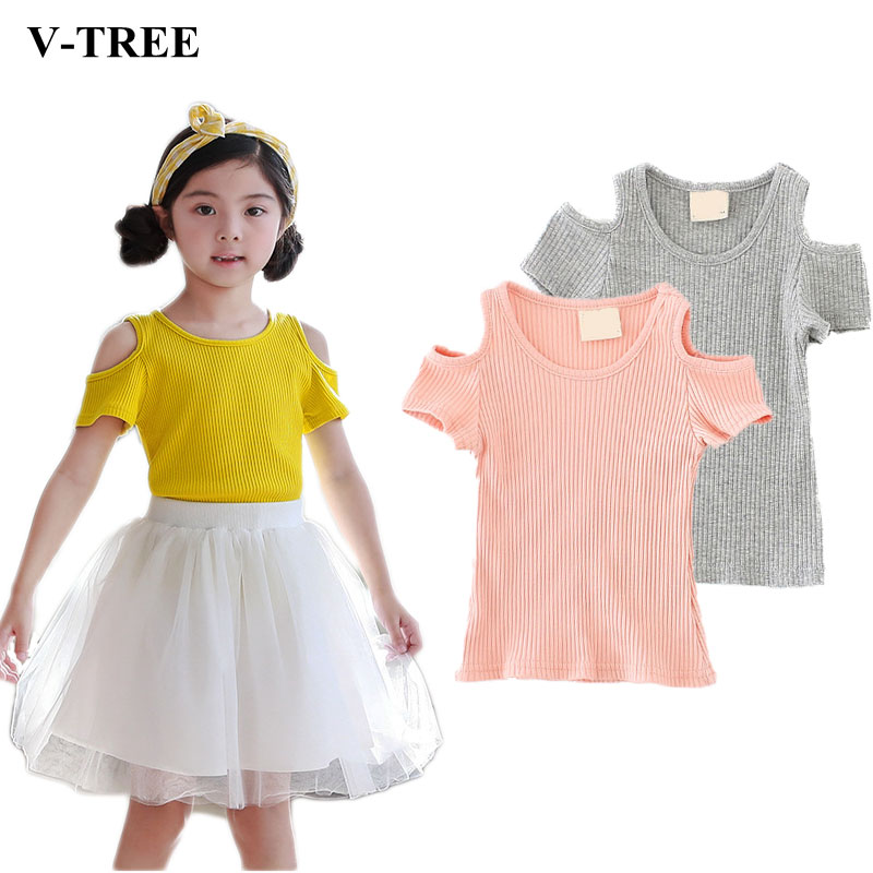 Baby Girls T Shirt Thread Toddler T-shirt Strapless Tops For Children Candy Color Kids Blouse Baby Tees Clothing monkids 2017 brand dot vest tops girls t shirt tees cartoon sling baby girl summer wear clothing girls blouse for 1 5y