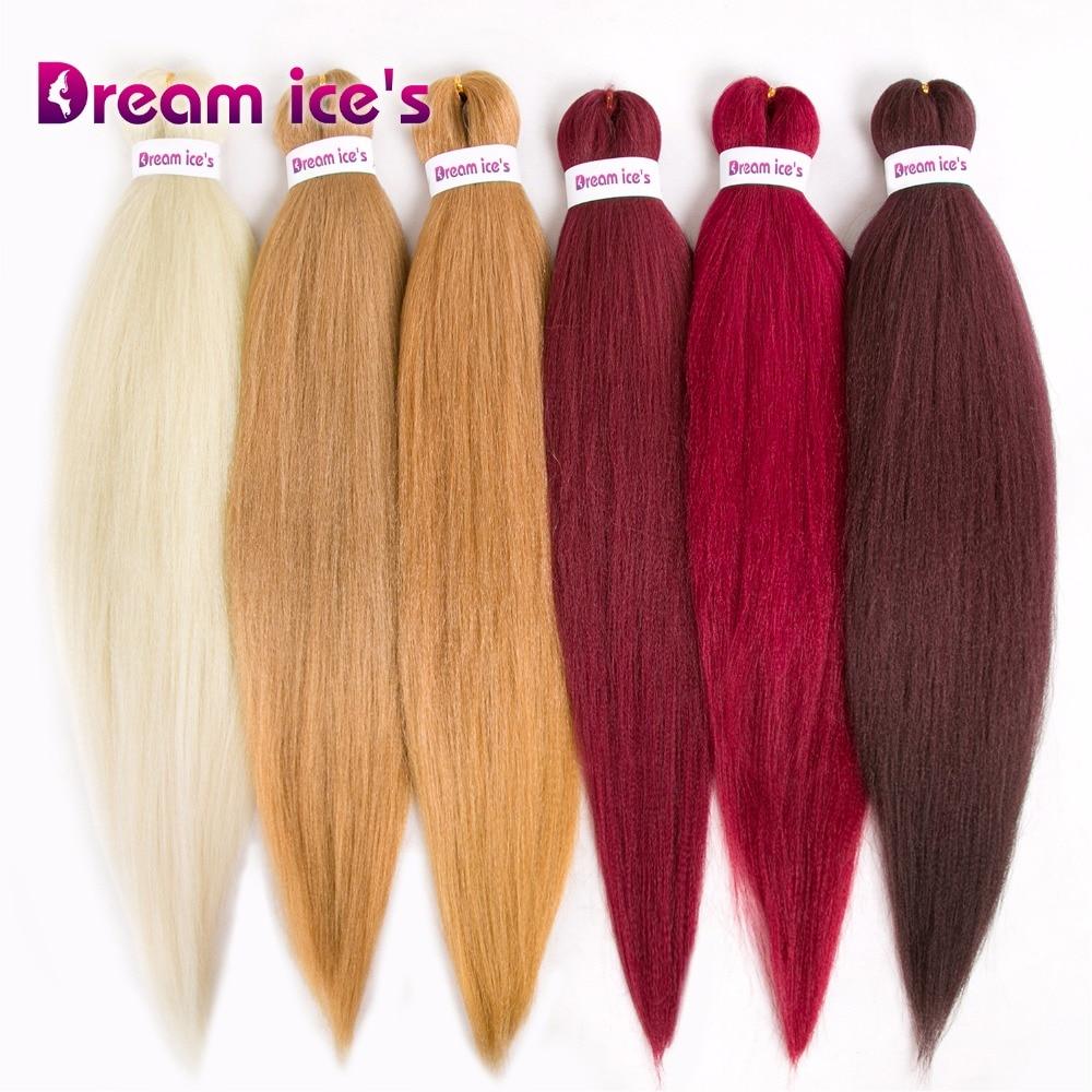 Synthetic Braiding Hair Original Crochet Fiber Hair Yaki Straight Pre-stretched Easy Braid 24 Inch Jumber Braids Hair
