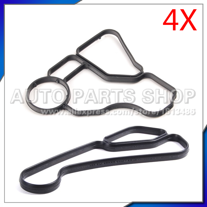 car accessories (4pcs) Oil Filter Housing Gasket for BMW E60 E61 E81 E90 E91 325i 325xi 330i 330xi 11427537293 11427525335 image