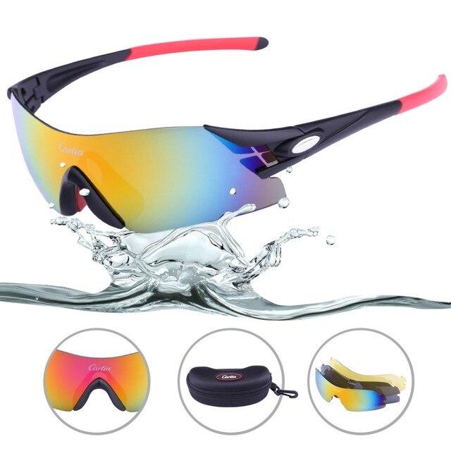7d518ae55f6e7 Carfia hombres mujeres UV400 polarizado Ciclismo gafas exterior bici del  deporte de montaña bicicletas gafas de