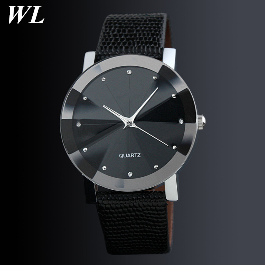 1pcs/lot 2017 Newest Hot Sale Fashion Diamond Good Quality Black Brown Women Men Alloy Leather Watch Couples Quartz Wristwatch карабин black diamond black diamond rocklock twistlock