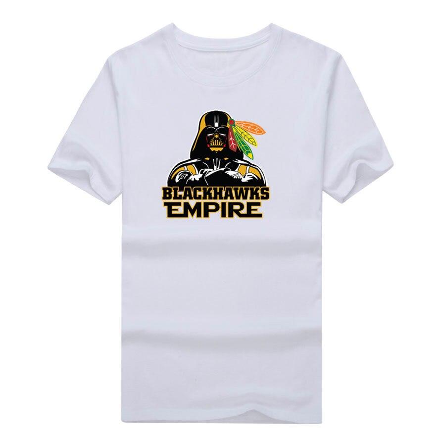 Design your own t shirt chicago - 2017 New 100 Cotton Blackhawks Empire T Shirt Star Wars Darth Vader Chicago T Shirt 0104 11
